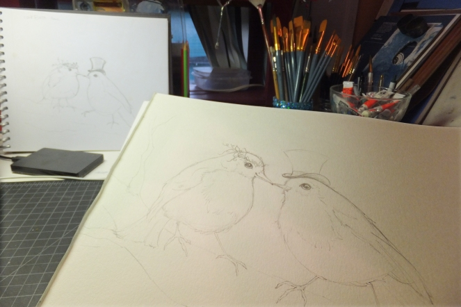 Love Birds_sketch